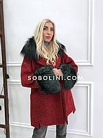 Демисезонное пальто с мехом «Paris»