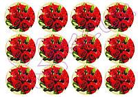 Вафельная картинка для Cupcake Цветы к 8 Марта 2