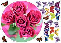 Вафельная картинка Цветы 8