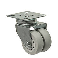 Колеса поворотные с крепежной панелью (подшипник скольжения) Диаметр: 75 мм.Серия 19 Twin Light, фото 1