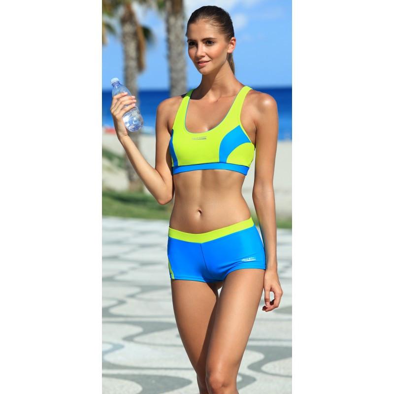 Раздельный женский купальник спортивный Aqua Speed Fiona (original), с топом и шортами для бассейна SportLavka