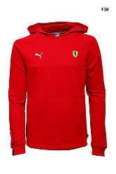 Толстовка кенгуру мужская Пума x Ferrari красная (реплика) Puma x Ferrari Sports Hoody Red
