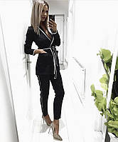 Костюм женский с брюками  Elena,  креп-костюмка , фото 1