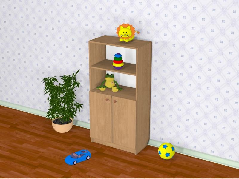 Шкаф детский Д-4 (600*320*1210h)