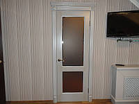 Двери из массива с серебрянной патиной