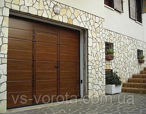 Ворота RYTERNA R40 с калиткой, размер 2700х2500 мм гаражные