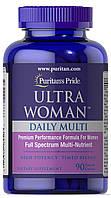 Витамины для женщин Puritan's Pride Ultra Woman™ Daily Multi Timed Release 90 капс. Пуританс прайд
