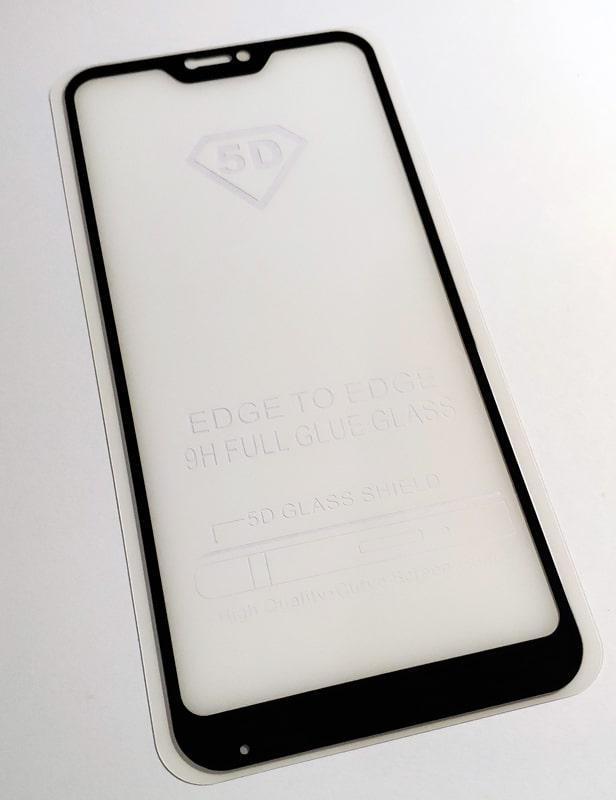 Скло захисне для телефону Xiaomi Mi A2 Lite / Redmi 6 PRO чорне, Full Glue, 5D