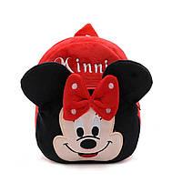 Детский плюшевый рюкзак для девочки Мини Маус / Minni Mouse
