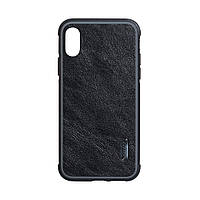 Панель G-Case Moncalo для Apple Iphone XS Max Black Leather (23714)