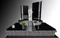 Пам'ятник гранітний подвійнийз ангелом S1150