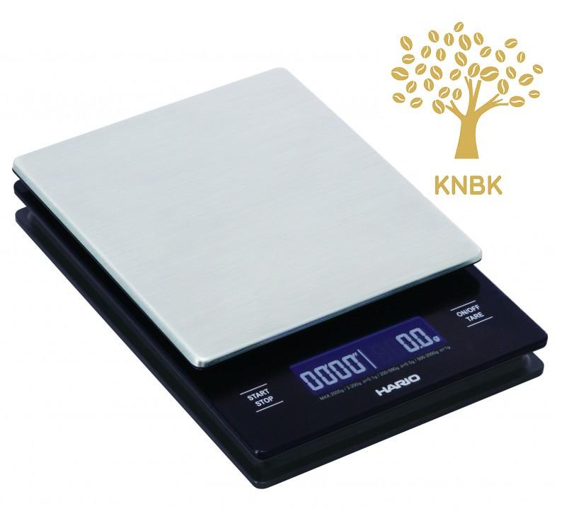 Весы Hario V60 metal drip scale LCD с таймером для приготовления кофе