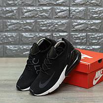 """Кроссовки Nike Air Max 270 Flyknit """"Черные"""", фото 2"""
