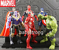 Набор Марвел Супергерои 6 шт. Халк , Танос, Тор, Спайдермен и другие, 17СМ Отличное Качество !