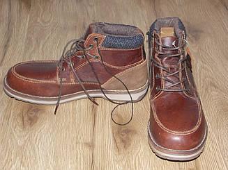 Ботинки, натуральная кожа, тм george/ стелка - 23,5 см. С нюансами