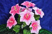 Искусственные цветы, букет колокольчик крупный атласный(10 шт в уп)