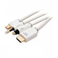 Переходник-конвертер miniDisplayPort - HDMI +AUX 2 м TechLink 525322 экранированный белый, гарантия 12 мес.