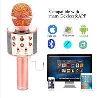 Беспроводной Blutooth микрофон-караоке  WS-858