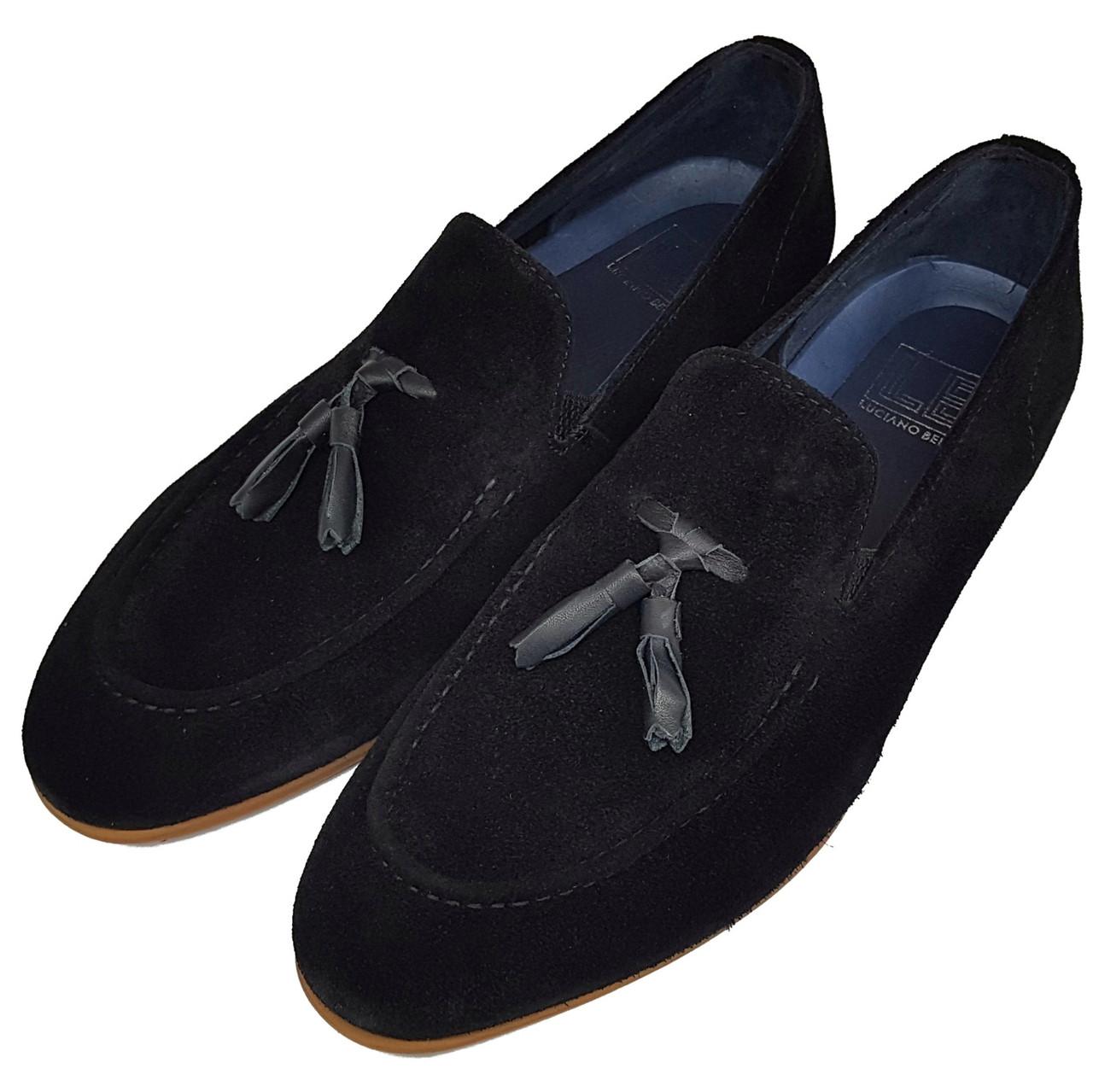 Мужские туфли лоферы Luciano Bellini черные L0017/17