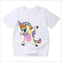 Детская футболка Единорожек 90,100,110,130,140, фото 1