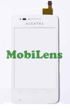 Alcatel 4030, 4030D, S Pop Тачскрин (сенсор) белый, фото 2