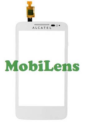 Alcatel 5020, 5020D Тачскрин (сенсор) белый, фото 2