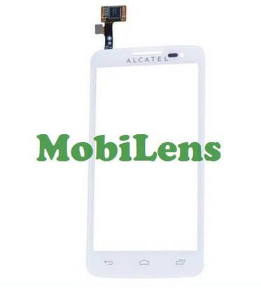 Alcatel 5035, 5035d  Тачскрин (сенсор) белый, фото 2