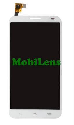 Alcatel 6037, OneTouch, Idol 2 Дисплей+тачскрин(сенсор) белый, фото 2