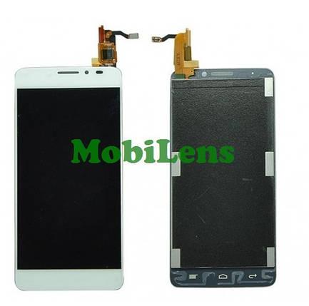 Alcatel 6040, 6040D, 6040X, Idol X Дисплей+тачскрин(сенсор) белый, фото 2