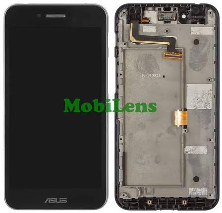 Asus PF500KL, PadFone S Дисплей+тачскрин(сенсор) черный в рамке, фото 2