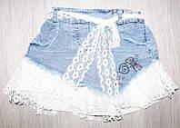 Джинсовая юбка для девочек от 2 до 5 лет.