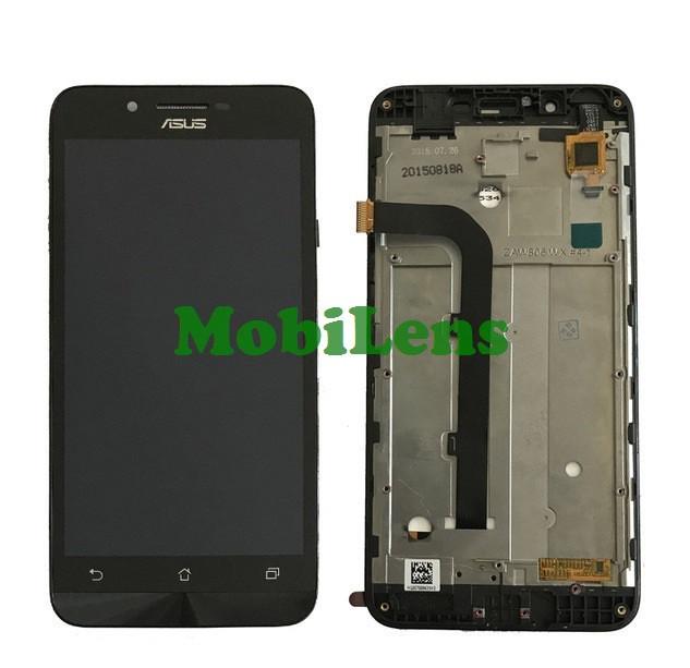 Asus ZC500TG, ZenFone GO, Z00VD Дисплей+тачскрин(модуль) черный *в рамке