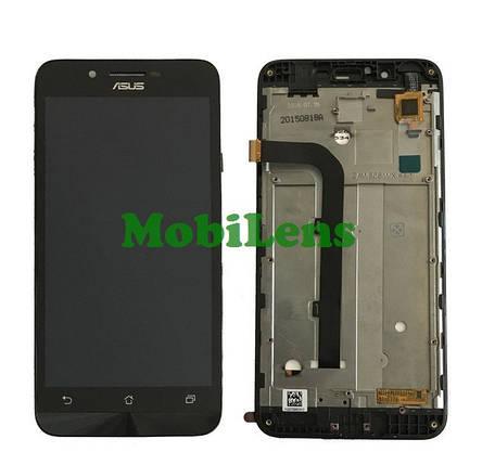 Asus ZC500TG, ZenFone GO, Z00VD Дисплей+тачскрин(модуль) черный *в рамке, фото 2