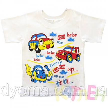 """Детская футболка """"Машинки"""" для мальчиков, фото 2"""