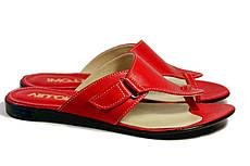 VM-Villomi Красные кожаные шлепанцы