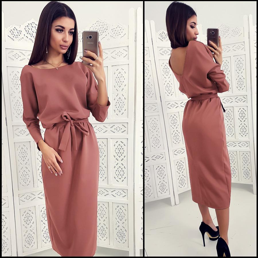 3527ce8be1627d Свободное платье цвета мокко Anett (Код 410) - Интернет-магазин женской  одежды от