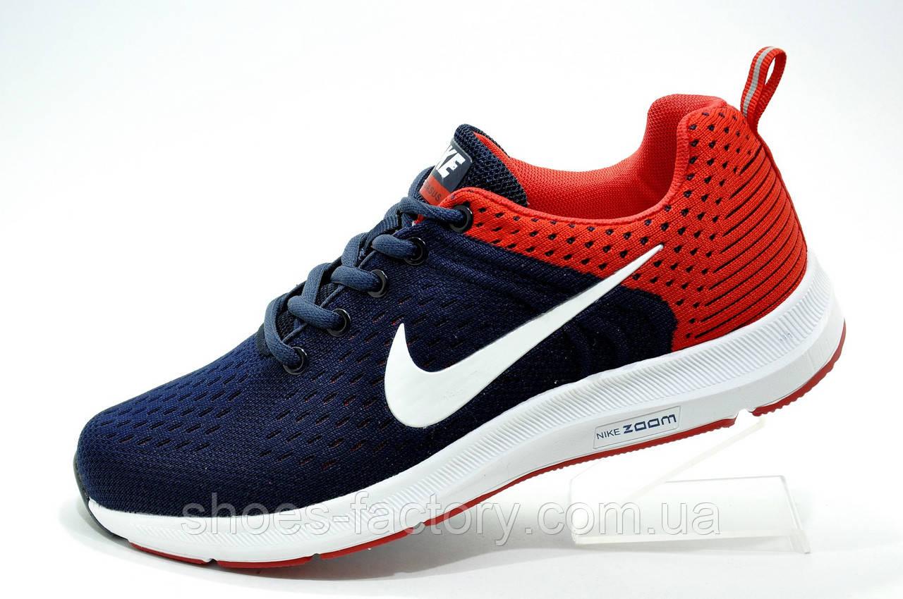f8e6bfc1 Беговые кроссовки в стиле Nike Air Zoom Pegasus, Dark blue\Red - Интернет  магазин
