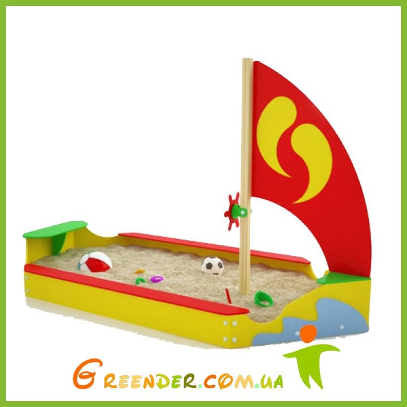 """Песочница """"Кораблик"""" детская из дерева"""