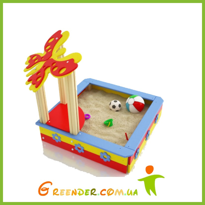 """Песочница для детей из дерева цветная""""Садочек"""""""