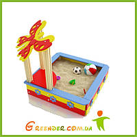 """Песочница для детей из дерева цветная""""Садочек"""", фото 1"""