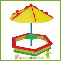 """Песочница с зонтом """"Грибочек"""" цветная для игровых дестких комплексов, фото 1"""