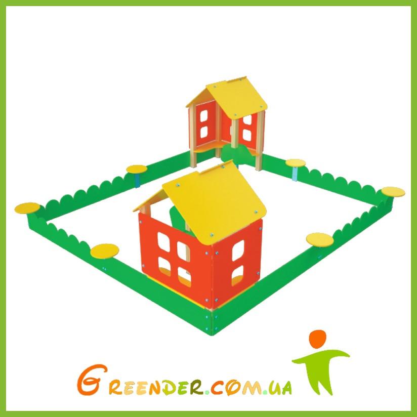 """Песочный двор """"Соседи"""" для детей цветная"""