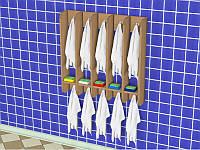 Вешалка для полотенец пятисекционная (750*150*750h)