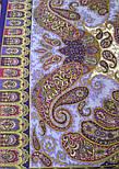 Фаворит 1344-13, павлопосадский платок шерстяной с шелковой бахромой, фото 8