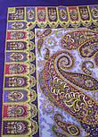 Фаворит 1344-13, павлопосадский платок шерстяной с шелковой бахромой, фото 7