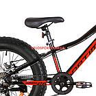 Детский велосипед Optimabikes Paladin 20 дюймов черно-красный, фото 4