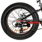 Детский велосипед Optimabikes Paladin 20 дюймов черно-красный, фото 5