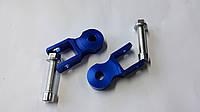 Продовжувачі (удлинители) амортизатора (пара) 450мм, Ø10мм (сині+болти) LIPAI