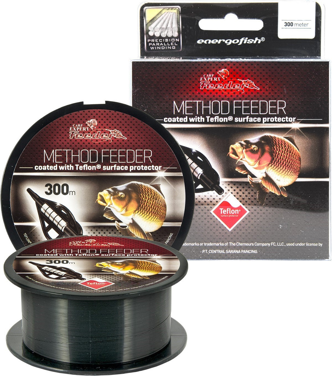 Леска Carp Expert Method Feeder Teflon Coated Black 300 м