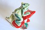 Садовая фигура жаба на грибе., фото 4